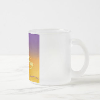 The New Way Frosted Glass Mug