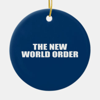 THE NEW WORLD ORDER Double-Sided CERAMIC ROUND CHRISTMAS ORNAMENT
