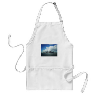 The New York City Skyline, A River View Adult Apron