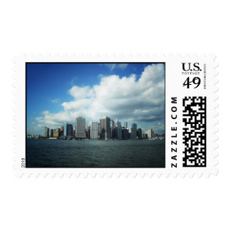 The New York City Skyline, A River View Stamp