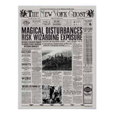 fantasticbeasts The New York Ghost Newspaper Poster