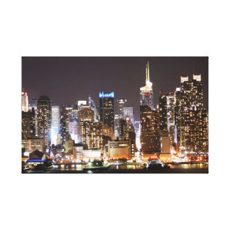 The New York night scene photograph Gallery Wrapped Canvas
