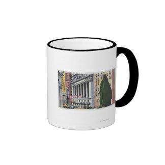 The New York Stock Exchange Bldg Ringer Coffee Mug