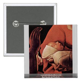 The Newborn (Birth Of Christ?) 2 Inch Square Button