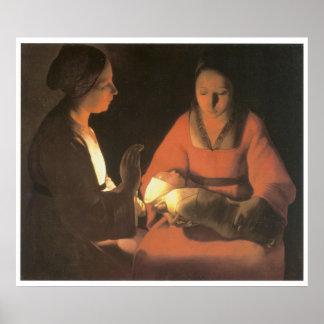 The Newborn Child, c.1645 Georges De La Tour Poster