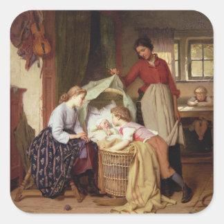 The Newborn Child Square Sticker