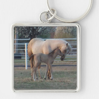 The Newborn square keyring