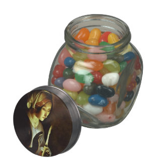 The Newborn & the Virgin in Linen by Georges Tour Glass Jars