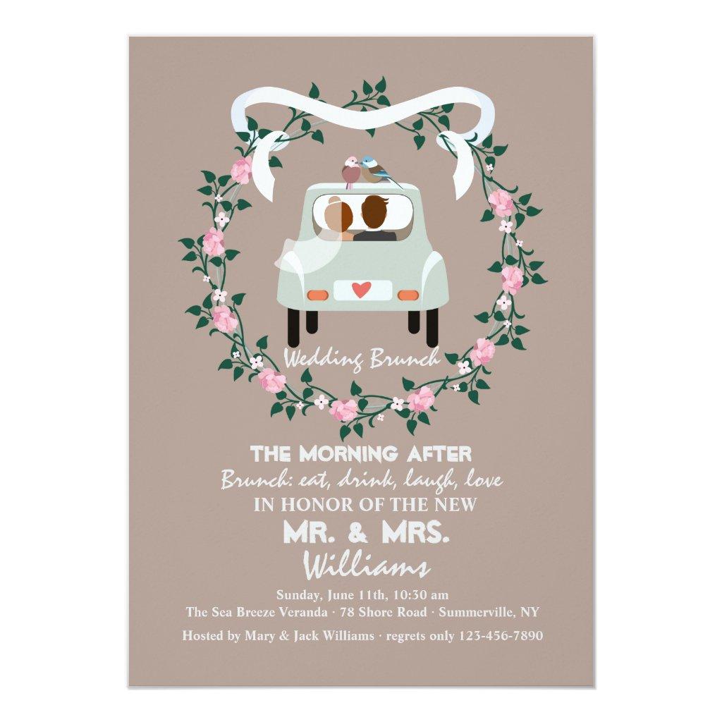 post wedding brunch invitations retro invites