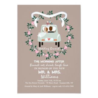 The Newlyweds Post Wedding Brunch Invitation