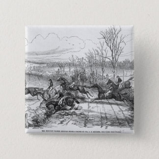 The Newport Pagnel Steeple Chase Button