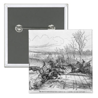The Newport Pagnel Steeple Chase 2 Inch Square Button