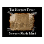 the newport tower postcard