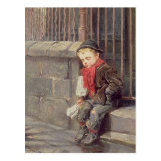 The News Boy Postcard