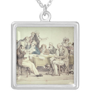 The Newspapers Square Pendant Necklace