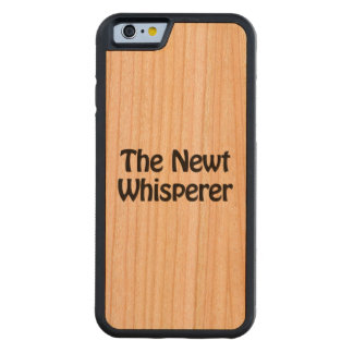 the newt whisperer carved cherry iPhone 6 bumper case