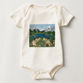 The Nez Perce ~ Wallowa Lake Baby Bodysuit