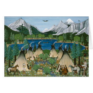 The Nez Perce ~ Wallowa Lake Greeting Card