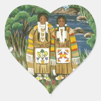 The Nez Perce ~ Wallowa Lake Heart Sticker