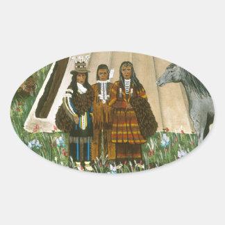 The Nez Perce ~ Wallowa Lake Oval Sticker