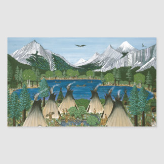 The Nez Perce ~ Wallowa Lake Rectangular Sticker
