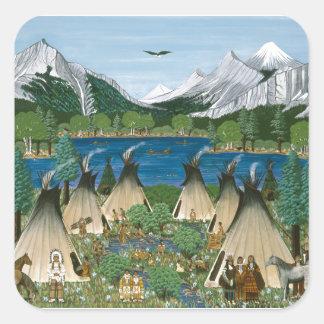 The Nez Perce ~ Wallowa Lake Square Sticker