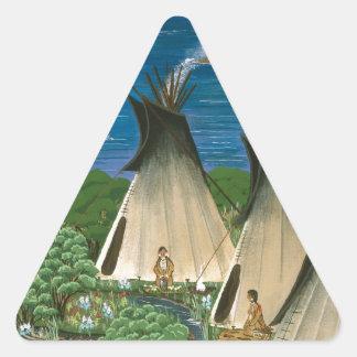 The Nez Perce ~ Wallowa Lake Triangle Sticker