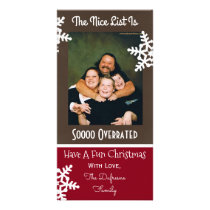 """The Nice List Is So Overrated"" Christmas Card"