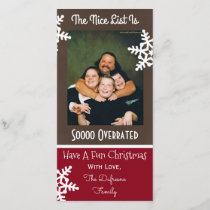 """The Nice List Is So Overrated"" Christmas Holiday Card"