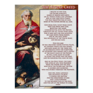 The Nicene Creed Poster
