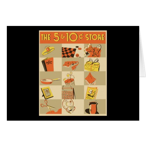 The nickel and dime store greeting card