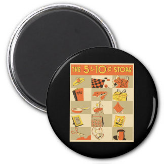 The nickel and dime store refrigerator magnets
