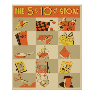 The nickel and dime store poster