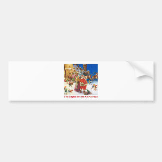 The Night Before Christmas At The North Pole Bumper Sticker