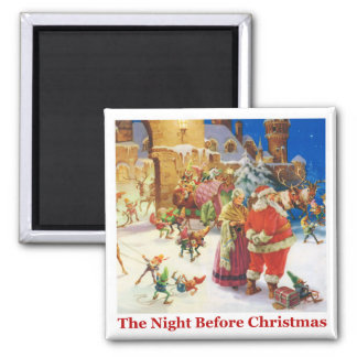 The Night Before Christmas at the North Pole Magnet