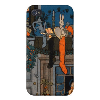 The Night Before Christmas by Denlow 1903 colou Cases For iPhone 4