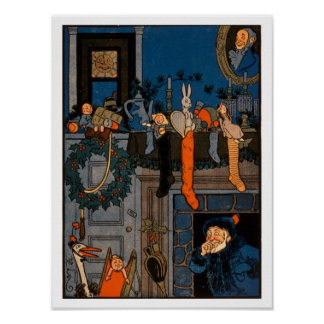 The Night Before Christmas, by Denlow, 1903 (colou Poster