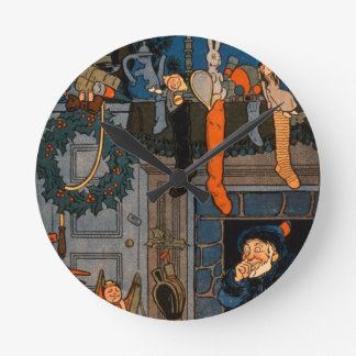 The Night Before Christmas, by Denlow, 1903 (colou Round Clock