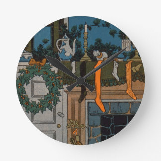 The Night Before Christmas by Denlow, 1903 (colour Round Clock