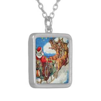 The Night Before Christmas Silver Plated Necklace