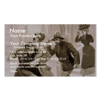 The Night before Christmas, 'The Murder' Retro The Double-Sided Standard Business Cards (Pack Of 100)