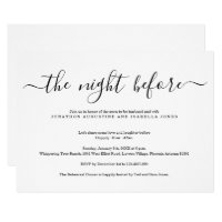 The Night Before Rehearsal Dinner Invitation