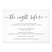 The Night Before Rehearsal Dinner Invitation at Zazzle
