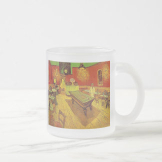 The Night Cafe by Vincent Van Gogh 10 Oz Frosted Glass Coffee Mug