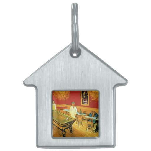 The Night Cafe by Vincent Van Gogh Pet Tags