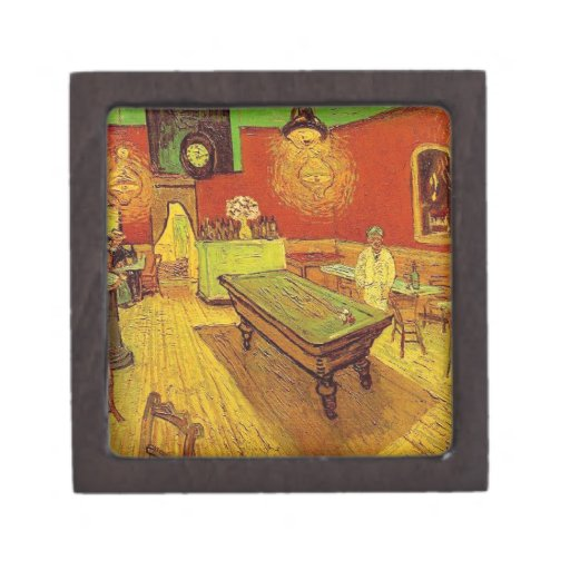 The Night Cafe by Vincent Van Gogh Premium Jewelry Boxes
