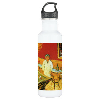 The Night Cafe by Vincent Van Gogh Stainless Steel Water Bottle