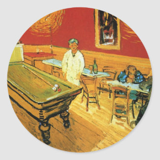 The Night Cafe by Vincent Van Gogh Sticker