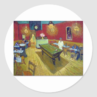 The Night Cafe by Vincent Van Gogh Round Sticker