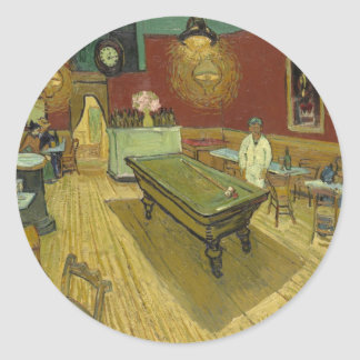 The Night Café Classic Round Sticker